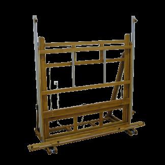 Chevalet électrique en bois pour oeuvres très grands formats TGF Chassitech