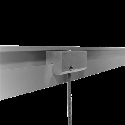 Coulisseau rail J simple pour suspension de tableau par câble - Chassitech