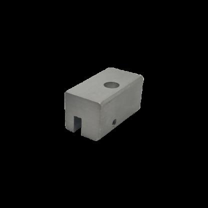 Coulisseau porte-câble rail J simple pour rail à tringles - Chassitech