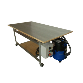 Table aspirante Twenty piètement aluminium Chassitech