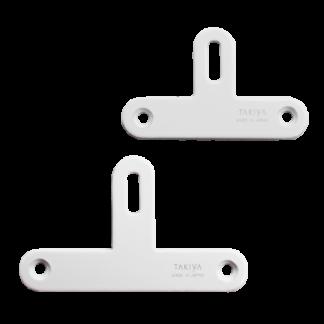 attache plate en t visible blanche 45 mm ou 55 mm pour accrochage tableau en caisse de transport - Chassitech