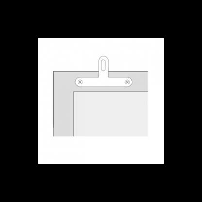 attache plate blanche visible en t en situation - Chassitech